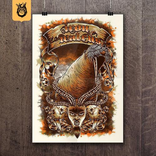 Iron Walrus - Silkscreen Tour Poster