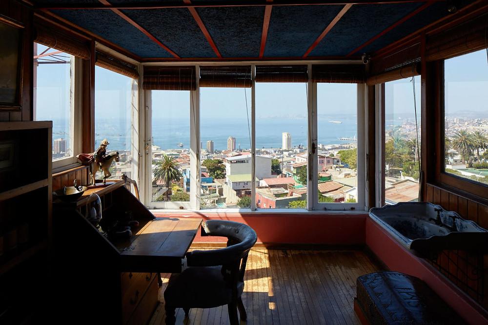 Pablo Neruda'nın eserlerini yazdığı oda