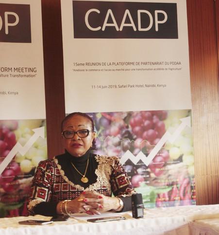 NAIROBI / 15EME REUNION PP DE PDDAA : « ZERO FAIM » EN AFRIQUE D'ICI 2020 POUR JOSEFA SACKO