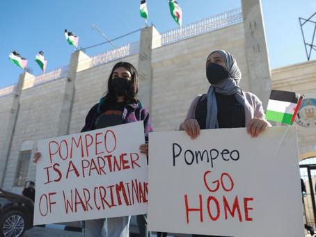 Israël : manifestations des palestiniens contre la visite de Pompeo