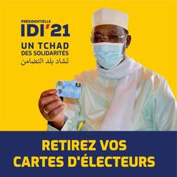 Tchad / Présidentielle 2021 : les électeurs appelés à retirer leurs cartes