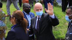 Sport / FIFA : Gianni Infantino en visite dans les deux Congo