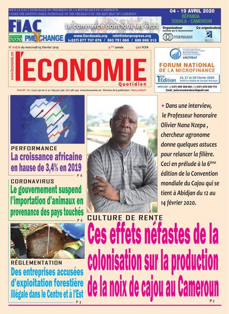 REVUE DE PRESSE AFRICAINE ET INTER EDITION DU MERCREDI 05 02 2020.