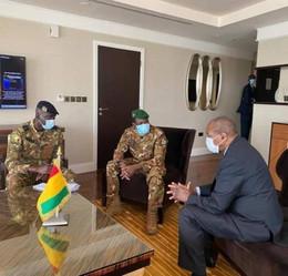 Coopération Guinée – Mali : le colonel Assimi Goita en séjour de travail à Conakry