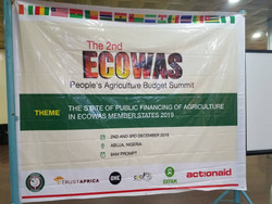 NIGERIA / ECOWAS: OPENING OF THE CONSULTATION PROCESS OF THE SECOND SUMMIT OF THE AGRICULTURE BUDGET