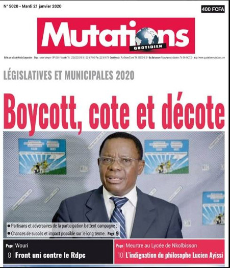 REVUE DE PRESSE AFRICAINE ET INTER EDITION DU MARDI 21 01 2020.