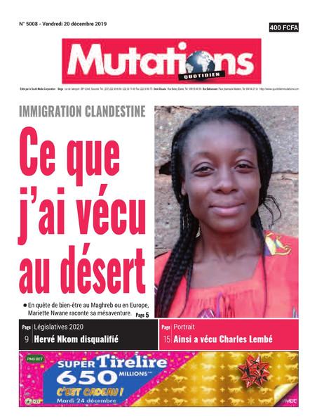 REVUE DE PRESSE AFRICAINE ET INTER EDITION DU VENDREDI 20 12 2019.