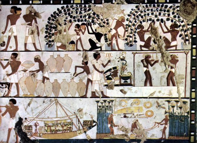 Peintures murales, tombeaux des Reines et Rois, vallée des Reines, vallée des Rois, Thèbes (Égypte)