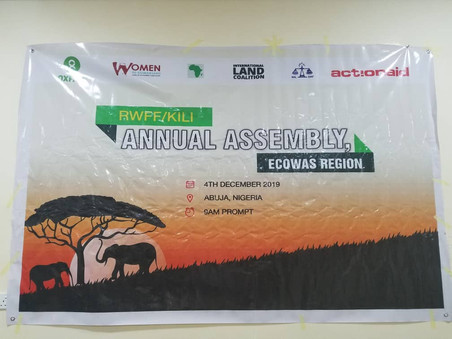 NIGERIA / ECOWAS: ANNUAL ASSEMBLY OF RURAL WOMEN OF THE KILIMANJARO INITIATIVE