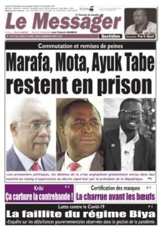 REVUE DE PRESSE AFRICAINE ET INTER EDITION DU JEUDI 16 04 2020.