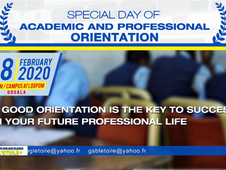 FIRST SPECIAL DAY OF ACADEMIC AND PROFESSIONAL ORIENTATION