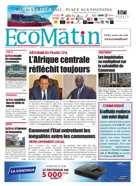 REVUE DE PRESSE AFRICAINE ET INTER EDITION DU LUNDI 25 05 2020.