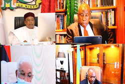 Lutte contre le Covid-19 sommet extraordinaire des chefs d'Etat de l'union africaine par visioconfér