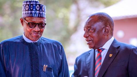 AFRIQUE DU SUD / NIGERIA : BUHARI EN VISITE D'ETAT CHEZ SON HOMOLOGUE RAMAPHOSA