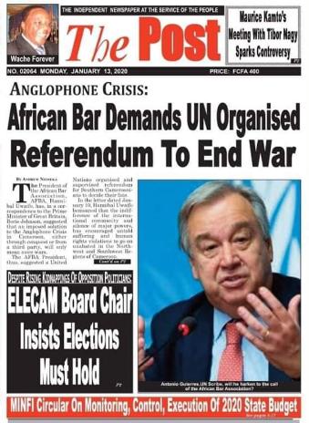 REVUE DE PRESSE AFRICAINE ET INTER EDITION DU LUNDI 13 01 2020.