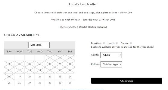 Screen shot of custom designed online widget