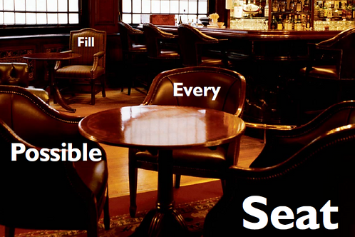 Bistro tables showing how reserved dining software helps fill every seat.
