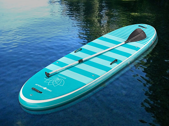Used Inflatable Teal SUP Board