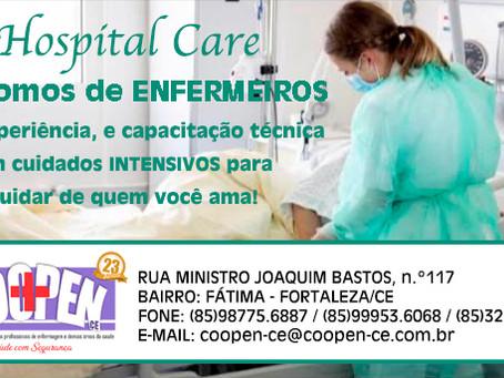 Hospital Care é mais um serviço oferecido pela COOPEN.
