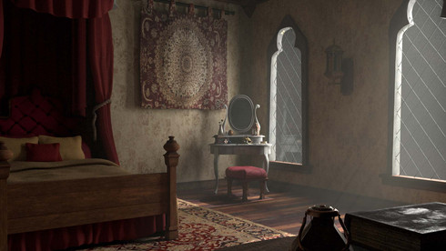 Middle Ages Inspired Bedroom