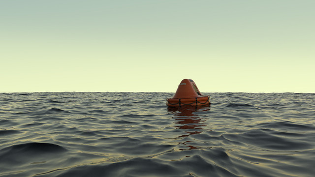 Raft at Sea