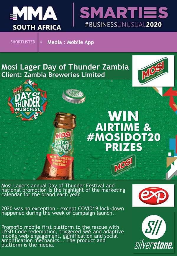 Exp Agency Win's a Silver Awards for Zam