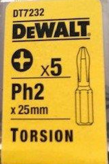 DeWalt PH2 Screw Bits - 5 pack
