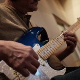 """Mike recording guitar tracks at Paragon for his EP """"Psychedelia."""""""