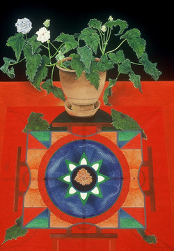 _The Octave_, acrylic and gouache on paper, 24_ x 18_, 1989_1