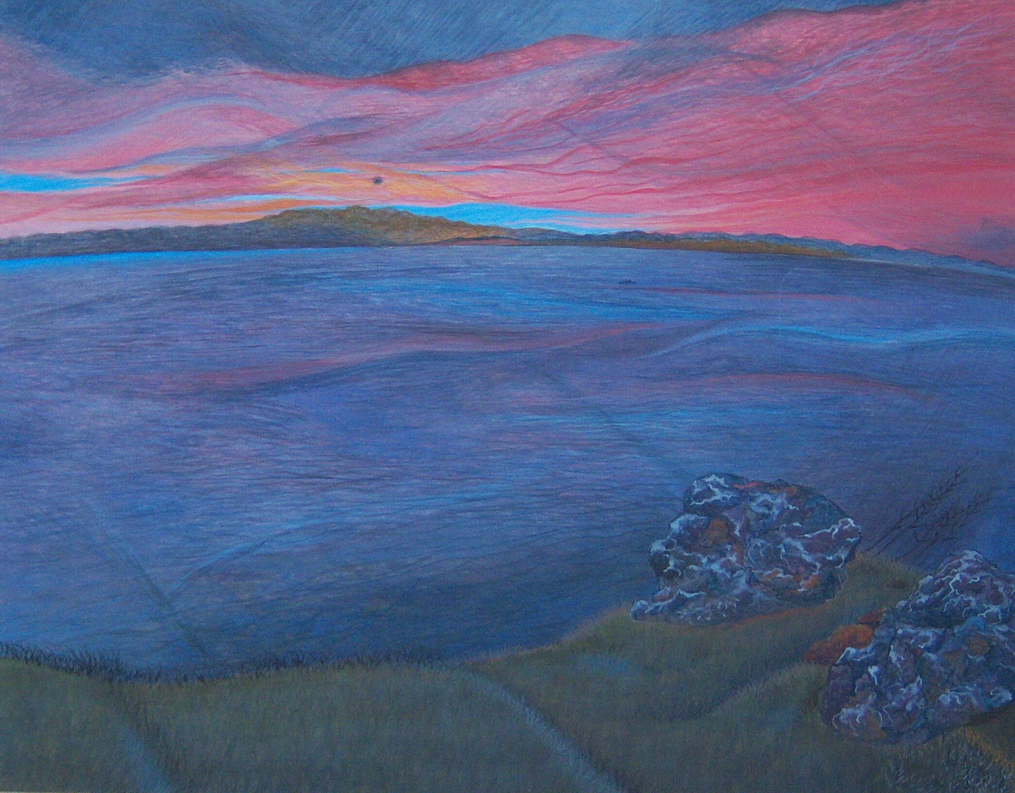 Light In Sight, e.t. on panel, 11 x 14, 2003