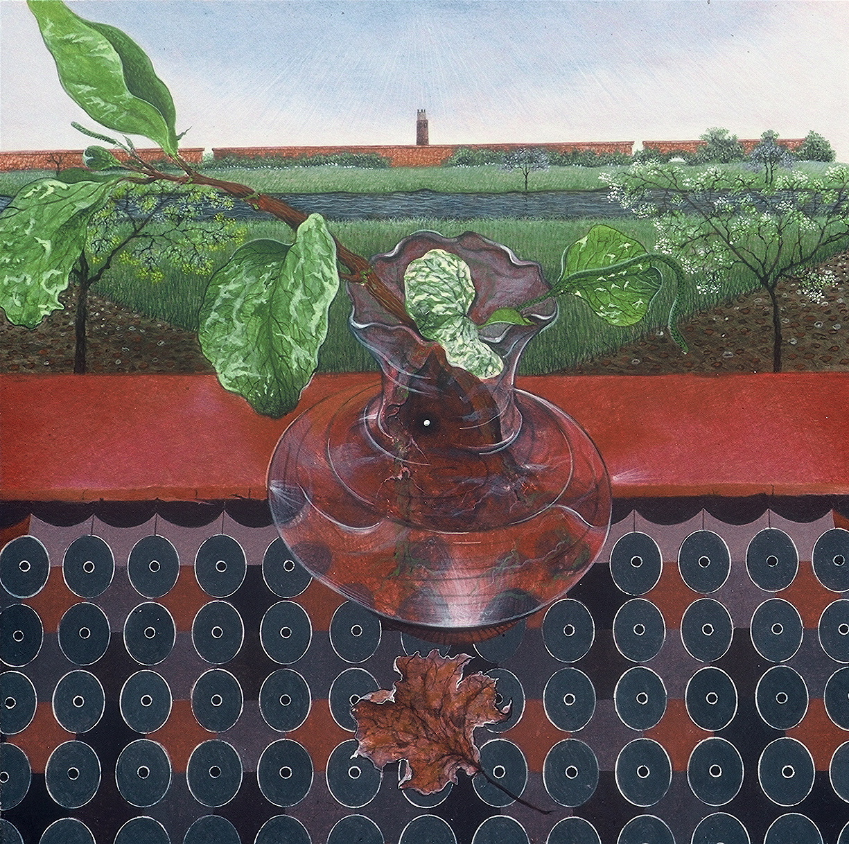 Eternal Viewpoint, egg tempera on panel, 12_ x 12_, 1988 copy