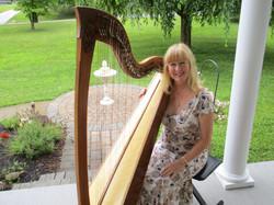 Janet Witman w_ lever harp