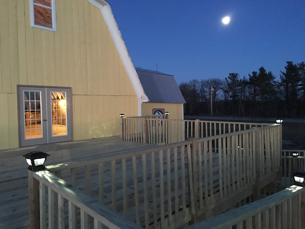 Moonrise from the new deck!