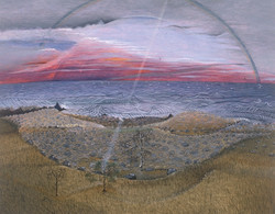 Arc Ascending, egg tempera on panel, 11_ x 14_, 1990