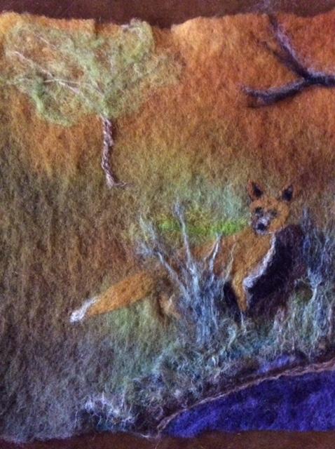 Fox Near Den