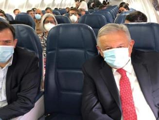 Ponen en cuarentena a tripulación que viajó con López Obrador