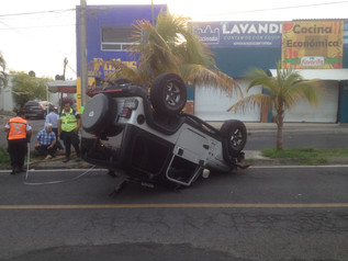 Aparatoso accidente