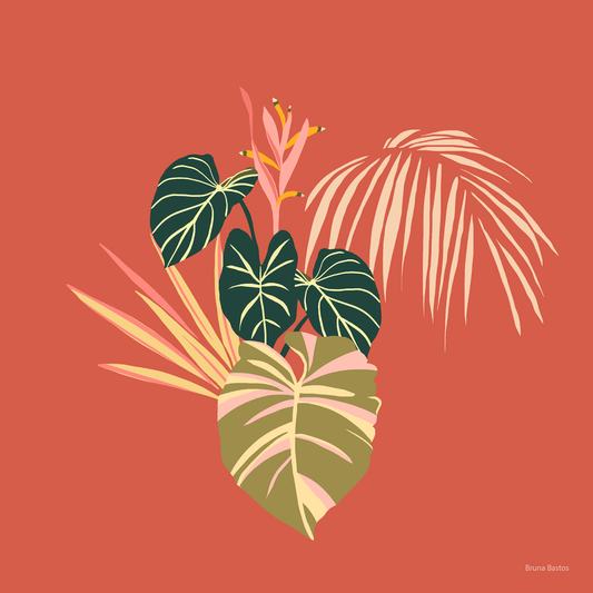 Folhagem tropical autoral