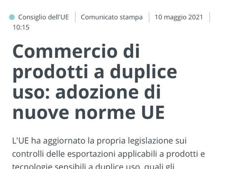 Il Consiglio europeo ha approvato il recast dual use