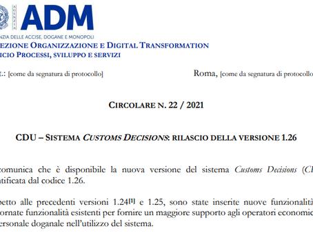 Aggiornamento del TP-Trader Portal per il CDS-Custom Decisions System