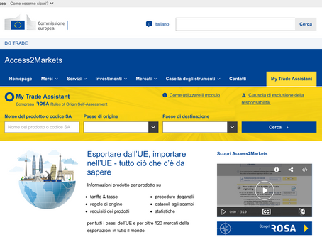 "DA ""MARKET ACCESS DATABASE"" AD ""ACCESS2MARKETS"""