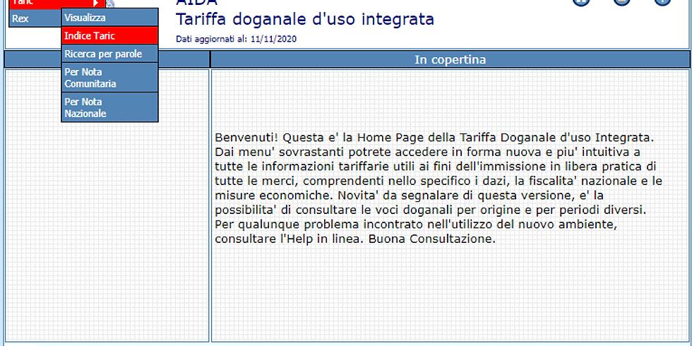 L'ABC DELL'IMPORT/EXPORT - 1: CLASSIFICAZIONE DOGANALE (1)