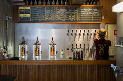 craft beer counter