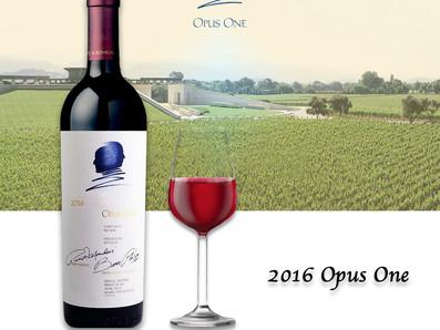 百大第一名,美國膜拜酒Opus One第一樂章,2016年份RP 98分,限量優惠推出