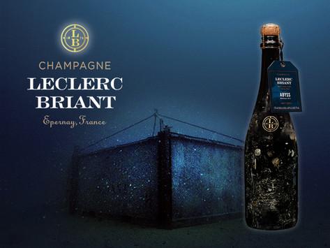 最適合聖誕節🎄的香檳,以24K金桶釀造60公尺深海陳年的Leclerc-Briant 'Abyss' Brut Zero 2014,年產僅3000瓶