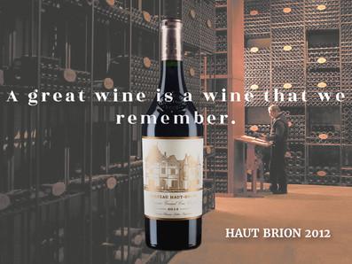 低於國際均價*法國波爾多五大酒莊Haut Brion,2012年份驚喜特惠中!