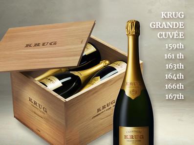 現貨供應,Krug庫克香檳的驕傲,創始人的夢想Krug Grande Cuvee六個版本,六款酒一次滿足!