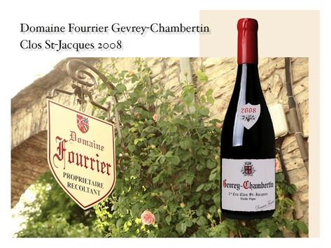 來自勃根地新秀Domaine Fourrier堪比特級園的Gevrey Chambertin Clos St. Jacques 1er Cru 2008,價格僅Armand Rousseau的60%