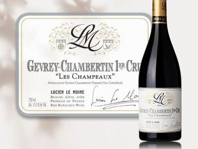 勃根地最值得收藏的酒款之一,2015 Lucien Le Moine Gevrey-Chambertin Les Champeaux 1er Cru
