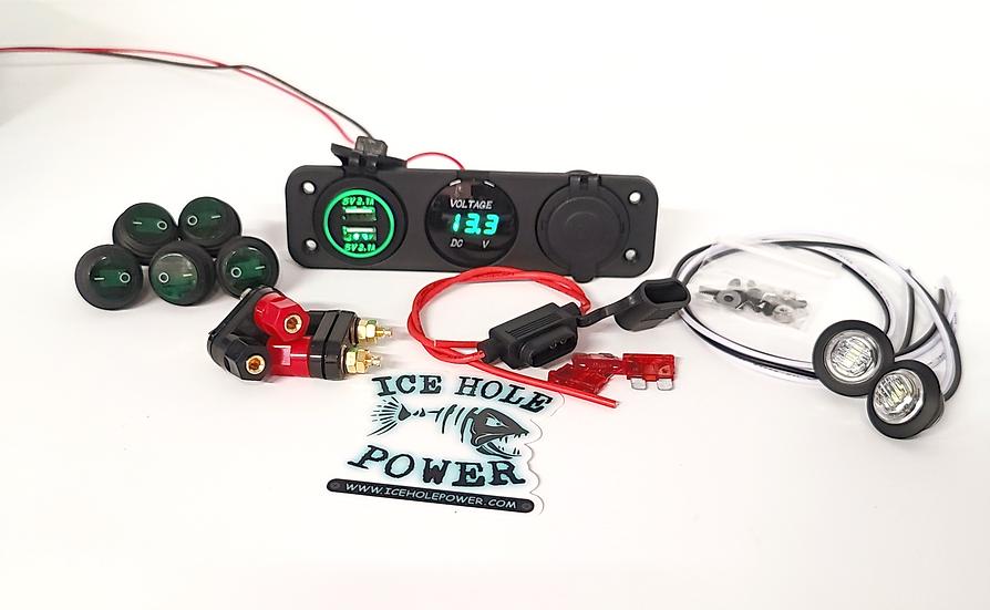 (GREEN) Power Box DIY Kit WITHOUT Box